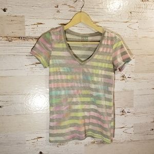NOLLIE Pacsun stripe v-neck tee